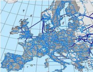 Le réseau de transport électrique en Europe