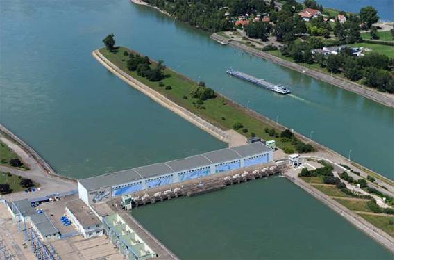 La centrale hydroélectrique de basse chute de Vogelgrun, Alsace