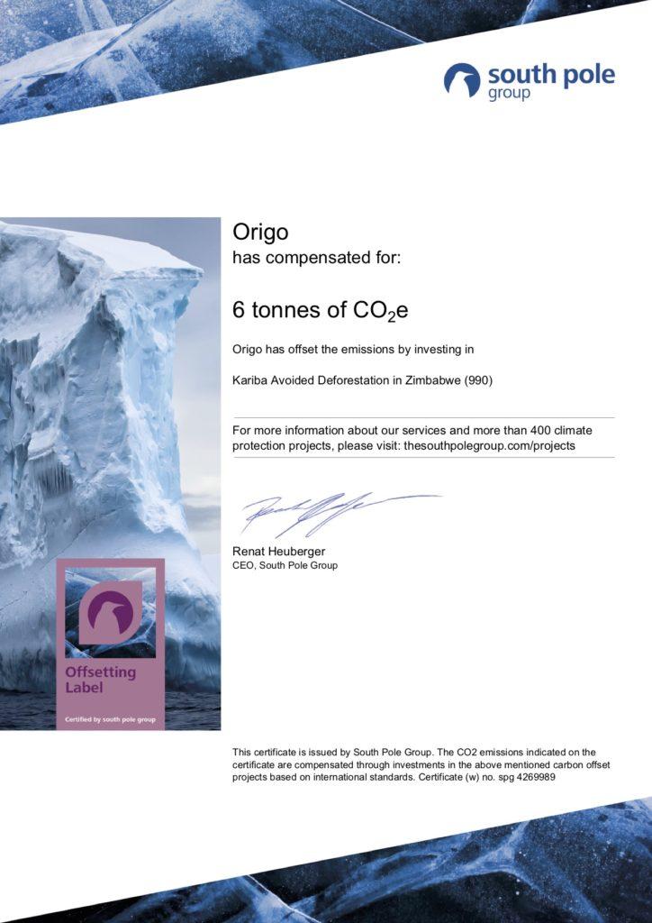 certificat carbone neutre